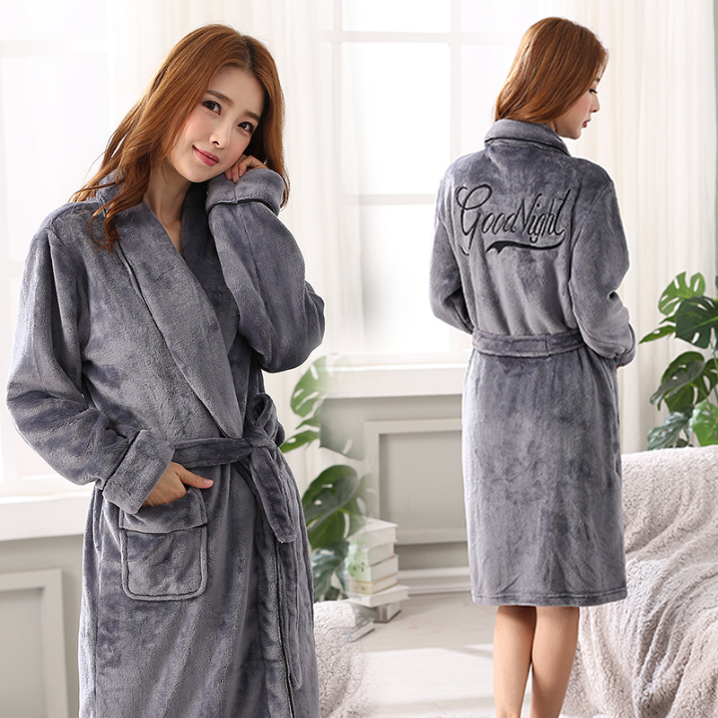 Flannel Winter Chinese Women Bathrobe Gown Coral Fleece Nightgown Sexy Long Sleepwear Kimono Brides Bridesmaid Wedding Robes