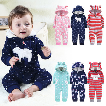 New 2020 Newborn Infant Winter Hooded Romper Jumpsuit Baby Girls Cartoon Overalls Baby Boys Long Sleeve Playsuit Toddler Clothes newborn baby boys girls romper cartoon print cotton long sleeve jumpsuit infant clothing pajamas toddler baby clothes outfits