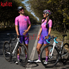 Kafitsummer nova camisa de ciclismo de manga curta terno de uma peça terno profissional feminino triathlon bicicleta de montanha macaquinho 17