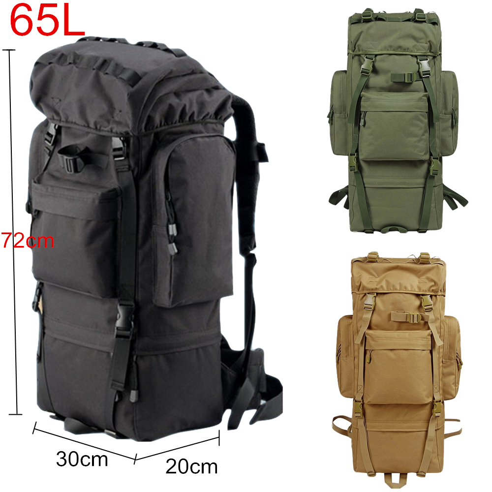 60L Camouflage Mountaineering Bags Outdoor Camping Hiking Trekking Large Tactical Military Backpack Waterproof Hiking Backpacks