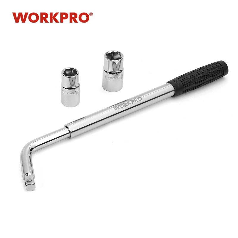 WORKPRO Telescoping Lug Wrench Spanner Lug Wheel Wrench With Sockets Wrench Car Repair Tools 17/19, 21/23mm