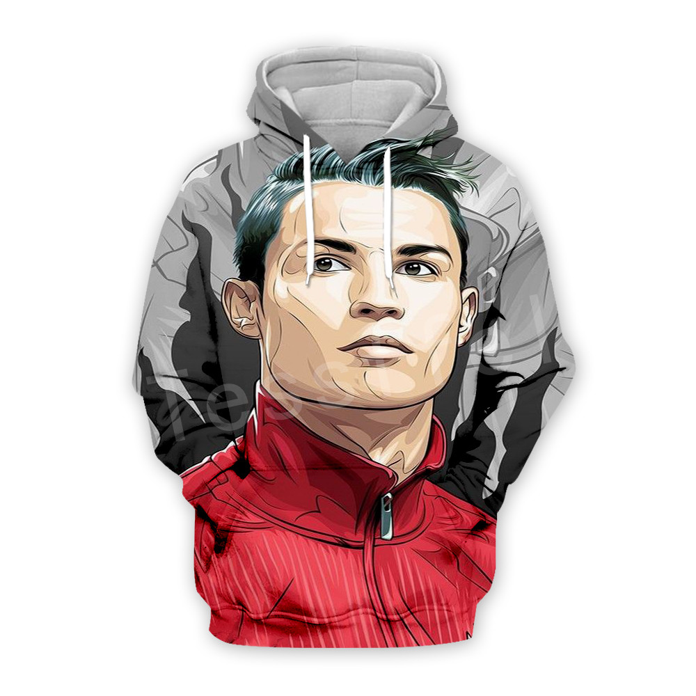 Tessffel Cristiano Ronaldo Athletes Fitness Tracksuit New Fashion 3D full Print Zipper/Hoodie/Sweatshirt/Jacket/Mens Womens s-9