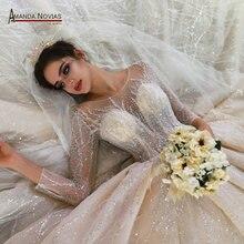 Vestido de novia de lujo, princesa hinchada