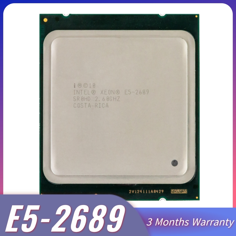 Intel xeon E5-2689 e5 2689 cpu 2.6 lga 2011 srol6 processador de desktop oito núcleo cpu 100% normal trabalho servidor cpu