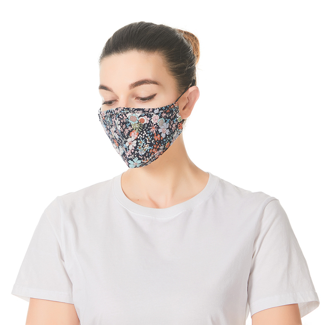 PM 2.5 Women Cotton Mouth Mask Anti Dust Mask Activated Carbon Filter Windproof Mouth-muffle bacteria proof Flu Face masks Care 1