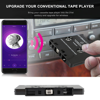 مشغل كاسيت صوتي للسيارة يعمل بالبلوتوث 5.0 محول عالمي للهواتف الذكية صوت مصغر للسيارة ميكروفون ABS وقت تشغيل الموسيقى 6H 168H الاستعداد