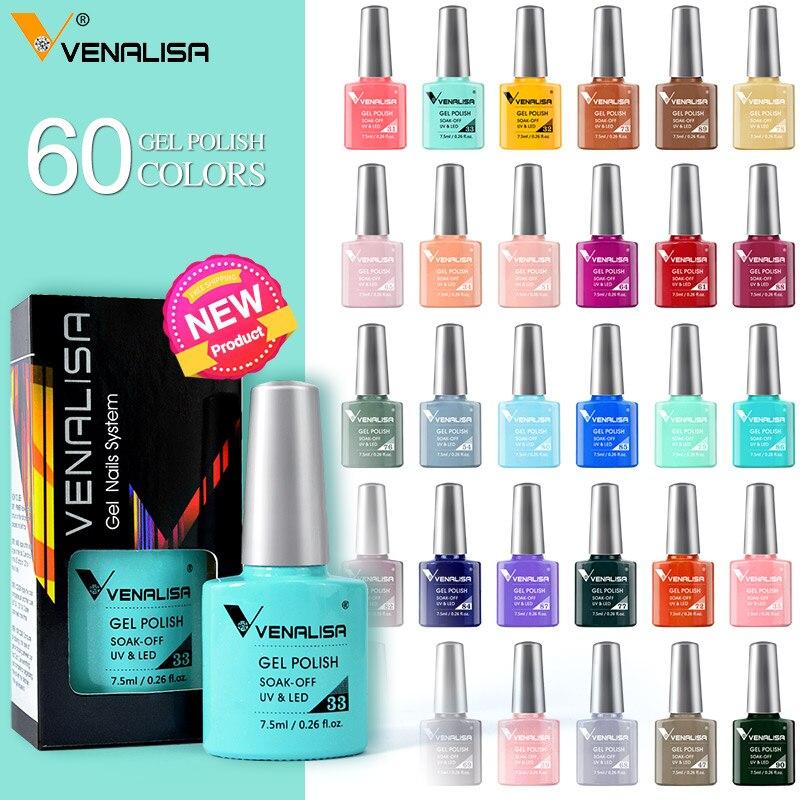 VENALISA Гель-лак для ногтей Новое поступление 60 цветов 7,5 мл гель-маникюрный лак Полупостоянный Гель-лак супер Гель-лак