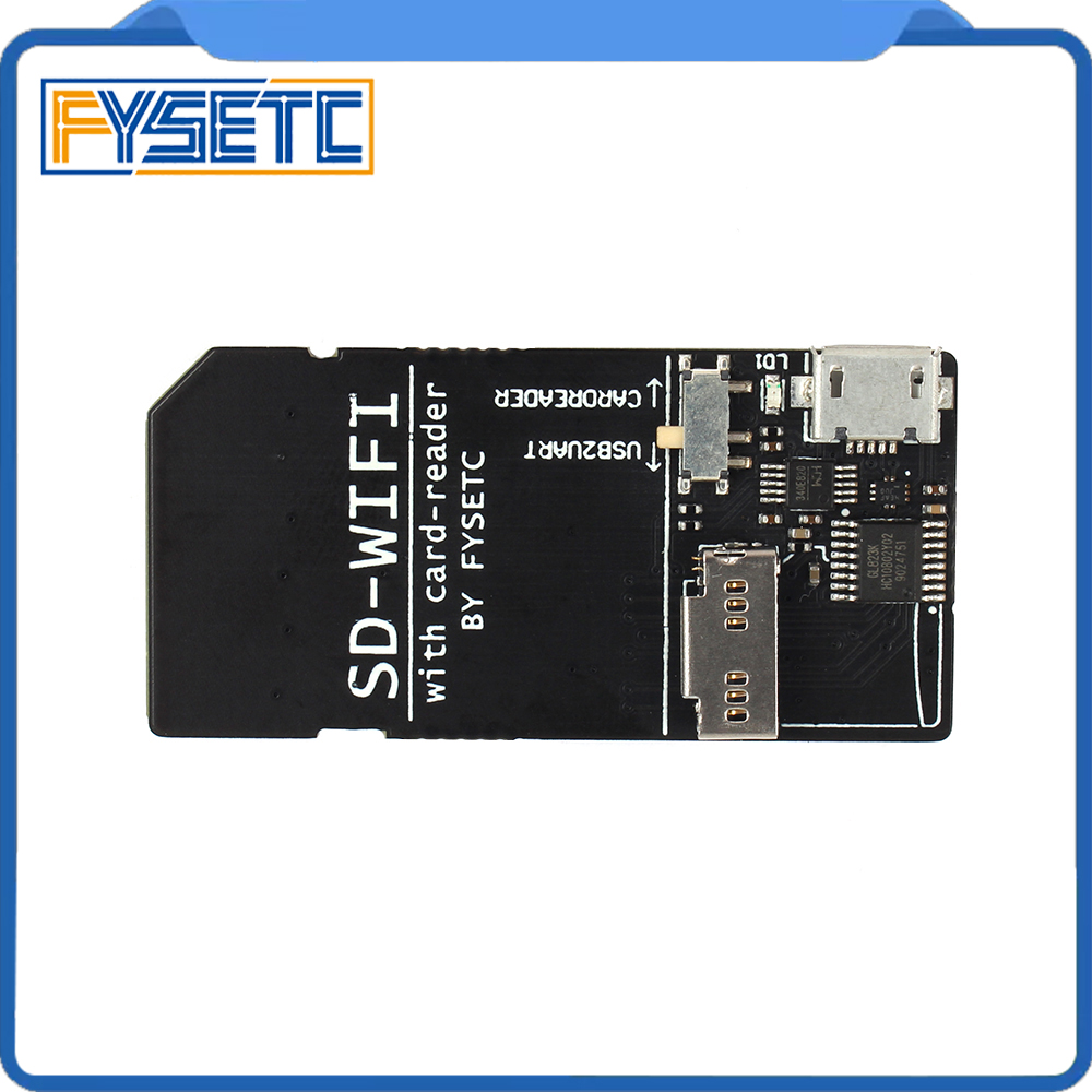 FYSETC SD-WIFI with Card-Reader Module run ESPwebDev Onboard USB to serial chip Wireless Transmission Module For S6 F6 Turbo