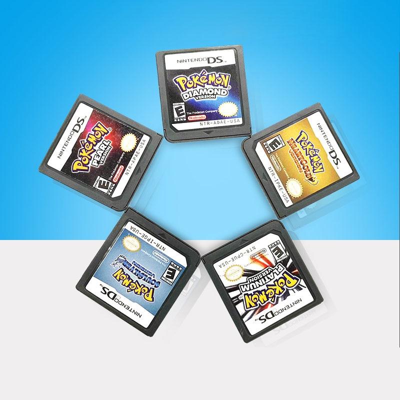 Игровая карта DS 3DS NDSi NDS Lite, игровая карта DS, Покемон с золотым сердцем Gintama/красивый Покемон, черный Покемон, белая карта