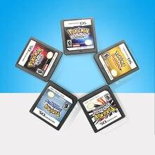 Cartão de jogo ds 3ds ndsi nds lite cartão de jogo ds pokemon ouro coração gintama/beleza pokemon preto branco cartão