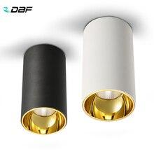 DBF luz empotrada montada en la superficie, foco de techo redondo de 15W, 20W, AC85 265V, para sala de estar, dormitorio, pasillo