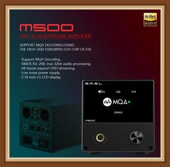 SMSL M500 MOQ USB DAC Headphone Amplifier ES9038PRO Chip RCA Optical Caoxial Audio Decorder Amplifiers DSD Mini XMOS XU-208