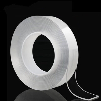 1/2/3/5meter Nano Double Sided Tape 30mm Recycle Use Strong Adhesive Waterproof Transparent Super Gel Grip Tape Home Improvement 1