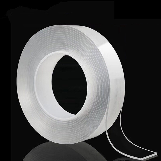 1/2/3/5meter Nano Double Sided Tape 30mm Recycle Use Strong Adhesive Waterproof Transparent Super Gel Grip Tape Home Improvement