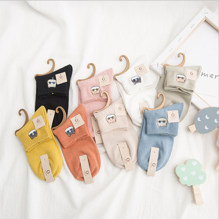 Spring And Summer Cute Cartoon Socks Cats Embroidery Ankle Socks College Style Socks 2020 New Fashion