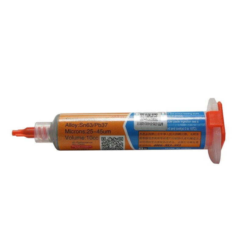 2PCS/LOT 10cc Needle Shaped Xg Z40 Solder Tin Cream BGA Paste Flux Sn63/Pb37 For PCB SMD
