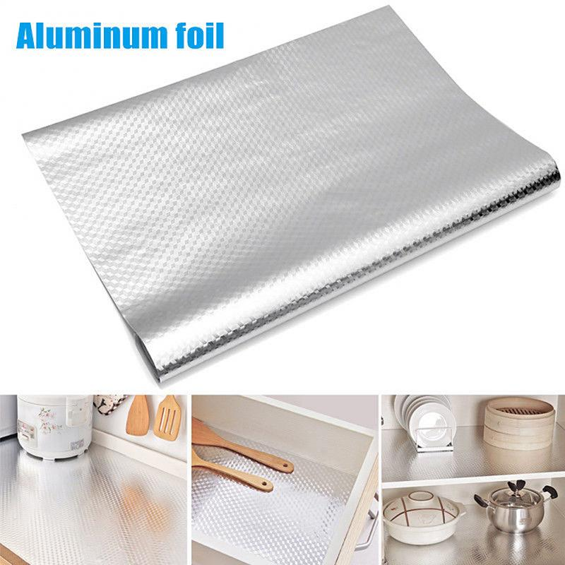 Waterproof Stickers Wallpaper Kitchen-Stove Self-Adhesive Aluminum-Foil Cabinet DIY Croppable title=