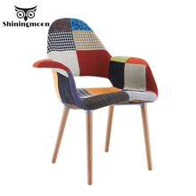 Nordic design Fabric Solid Wood upholstered Chair Dining Chairs for Dining Rooms Restaurant Office Meeting Bedroom Dining Chair