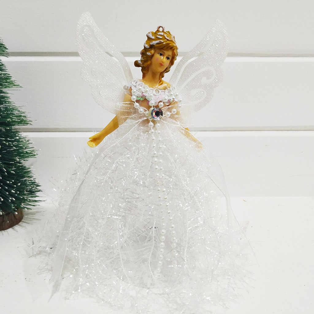 2019 Chất Lượng Cao Giáng Sinh Cánh Đứng Thiên Thần Búp Bê Treo Quà Giáng Cây Mặt Dây Trang Trí Nhà Hỗ Trợ Bán Buôn Dropshipping