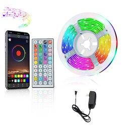 Led bande Bluetooth TV RGB LED bande lumière DC24V 5050SMD Flexible Diode bande 5M 10M 15M Led lumières décoration pour mur
