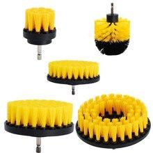2/3.5/4/5 ''Elektrische Scrubber Borstel Boor Borstel Kit Plastic Ronde Cleaning Brush Tool Voor Tapijt Glas Autobanden nylon Borstels