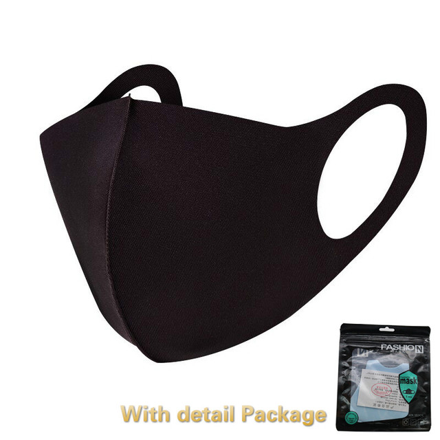 Cool Silk Cotton Face Mouth Mask for Man Woman Washable