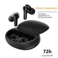 Auriculares TWS inalámbricos por Bluetooth 5,1 ANC, cascos deportivos con cancelación de ruido, impermeables, de baja latencia, para videojuegos, batería larga, táctiles