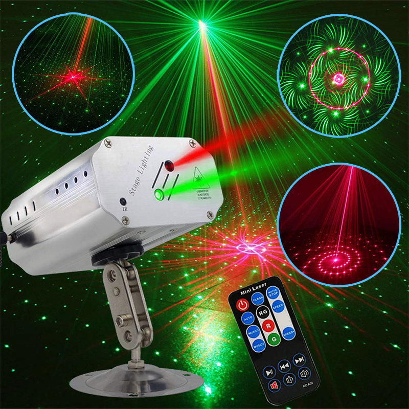 Led Disco Light Christmas Laser Projector Music Sound Control Flash Strobe Lamp Stage DJ Disco Club Home Decoration Party Lights
