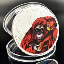 Австралия животных Gorilla памятная монета признание в любви предлагаю материнская любовь Мемориал Елизаветы подарок посеребренные монеты