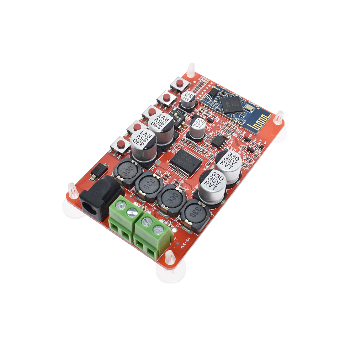 <font><b>Amplifier</b></font> Board Module for TDA7492P <font><b>2*25W</b></font> Wireless Bluetooth 4.0 Audio Receiver Case Cover Shell with AUX Interface image