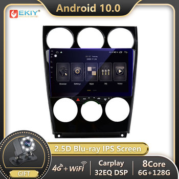 EKIY 1280*720P Blu-ray IPS DSP Android 10 For Mazda 6 2004-2014 Car Radio Multimedia Video Player Navi GPS Stereo no 2 din 2din image