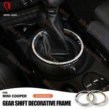 Zmiany biegów pierścień ramki dla Mini Cooper R56 R60 R55 R61 wykończenia wnętrz akcesoria diament urządzone pierścień naklejki Mini samochód stylizacji