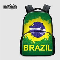 Custom Design Laptop Backpack For Brazilian Football Fans 17 Inch Large School Bags For Teen Boys Brazil Travel Shoulder Bagpack