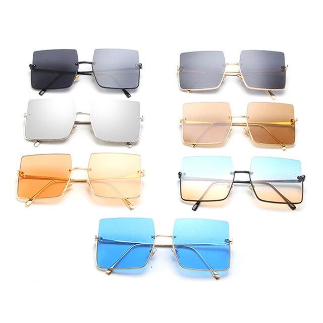 Sunglasses Women Luxury Sun Glasses Retro Brand Square  6