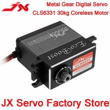 JX Ecoboost CLS6331 30KG High Torque Servo 180 Degree CNC Shell Metal Gear Coreless Digital Servo For RC Model Scaler Parts rc servo tower pro mg92b digital metal gear metallgetriebe 3 5kg torque for model plane jetrc airplane rc helicopter parts