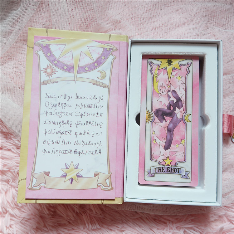 Anime Card Captor Sakura Kinomoto Tarot Magic Book Versions With Clow Cards Set In Box Cosplay Props Collectibles Gift