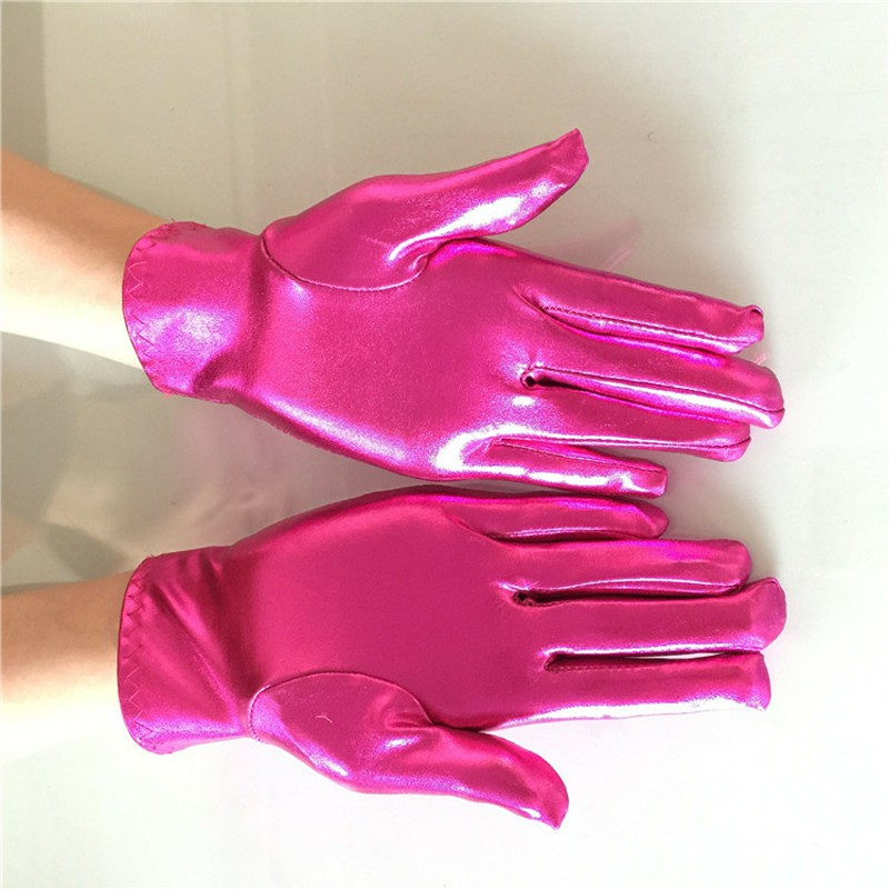 Fuchsia Green Tandi Girls Gorgeous Fancy Blue Gloves For Special Occasion Dress Formal Wedding Pageant Party Short ST264