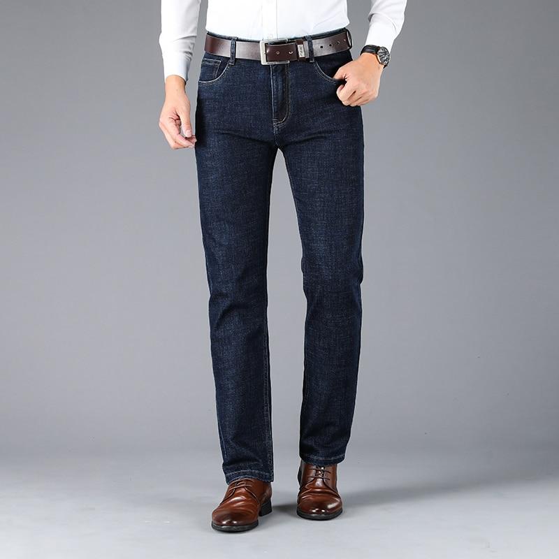 Male Jeans Men Men'S Jean Homme Denim Slim Fit Pants Trousers Straight Blue Black Biker Business Casual Classic Fashion