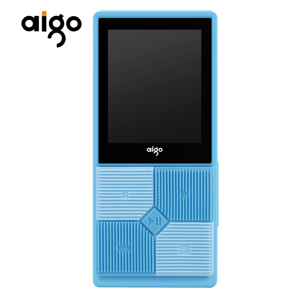 "Aigo 206 Portable Slim MP3 Music Player 1.8"" TFT Screen Display 128x160 Support 64GB SD Card Adjustable Audio MP3 Player"