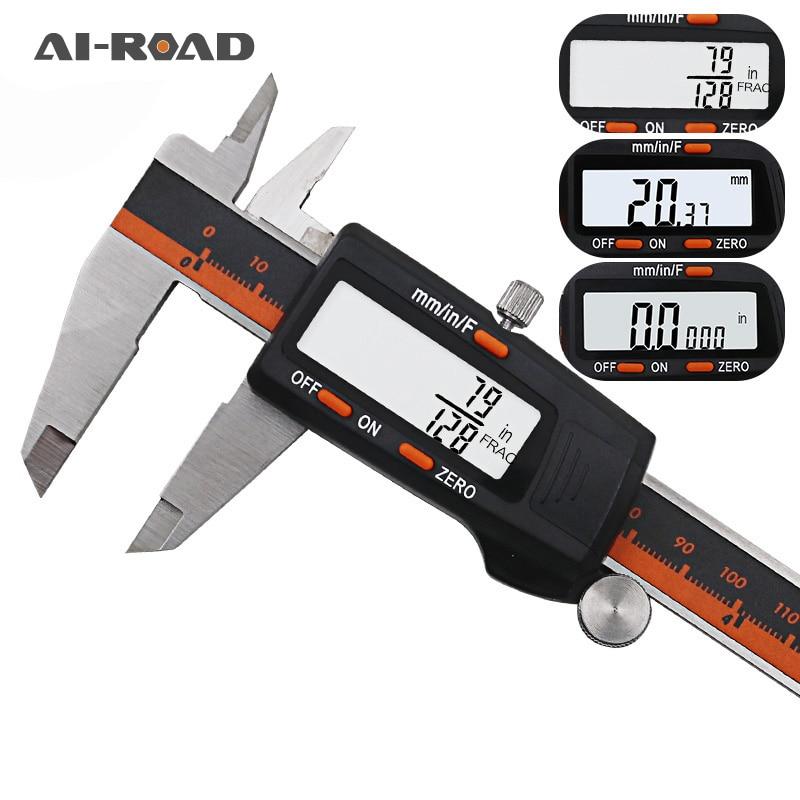 Digital Vernier Caliper 6 Inch 0-150mm Stainless Steel Electronic Caliper Micrometer Depth Measuring Tools