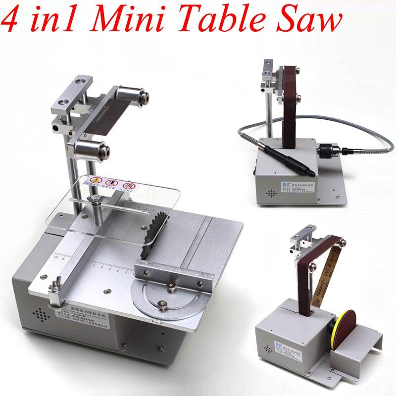 Pequeña sierra de mesa Micro motosierra multifunción Mini máquina de corte Diy sierras de carpintería de precisión Sierra de mesa de corte de escritorio