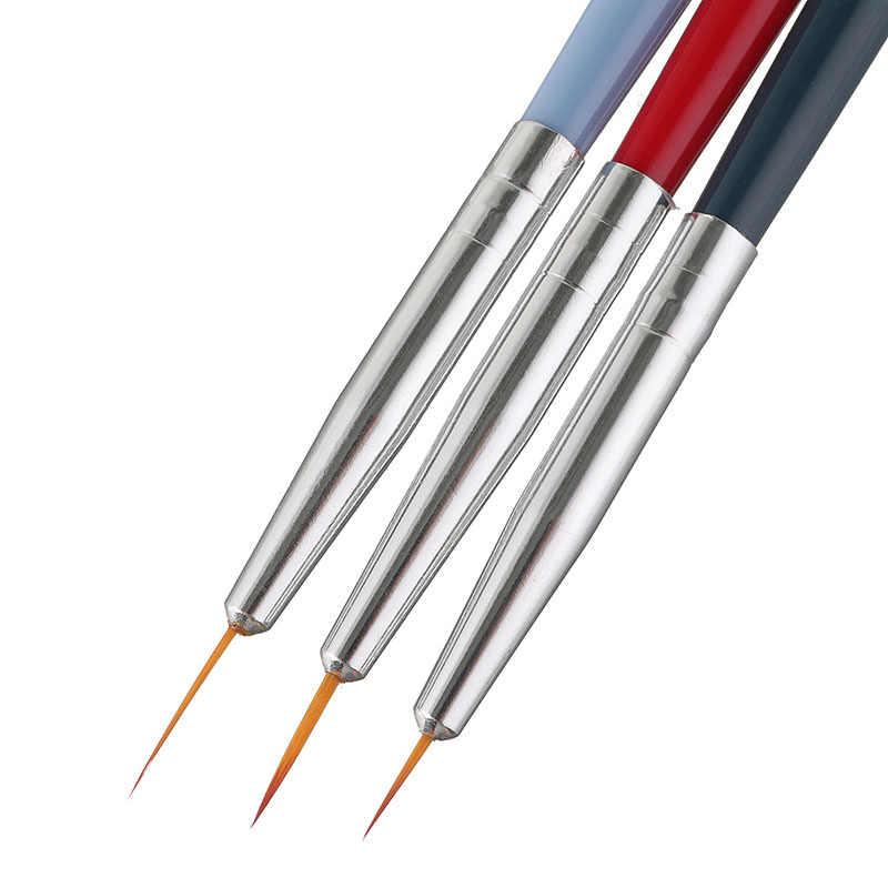 נייל מברשות אמנות ליינר ציור עט 3D טיפים DIY אקריליק UV ג 'ל מברשות ציור ערכות פרח קו צרפתית עיצוב מניקור כלי