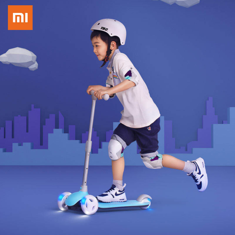 XIAOMI MITU Children's Scooter Exercise Balance Ability Child Walker Toy Lighting Device Can Adjust The Height Birthday Gift