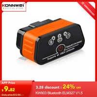 ELM327 OBD2 Scanner Auto scanner ICar2 KONNWEI Bluetooth ULME 327 V 1,5 Auto Diagnose Werkzeug EML327 OBD 2 Scanner eml327 v1.5