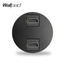 Wallpad 5 Colors Double HDMI 3.0 Connection Ports Wall Socket Module Match L6 Plates Free Combination DIY
