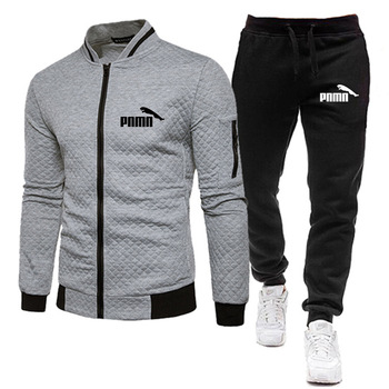 Brand Men Tracksuit 2 Pieces Men's Winter Jacket Casual Zipper Jackets Sportswear+Pants Sweatshirt Sports Suit Men Sets Clothing