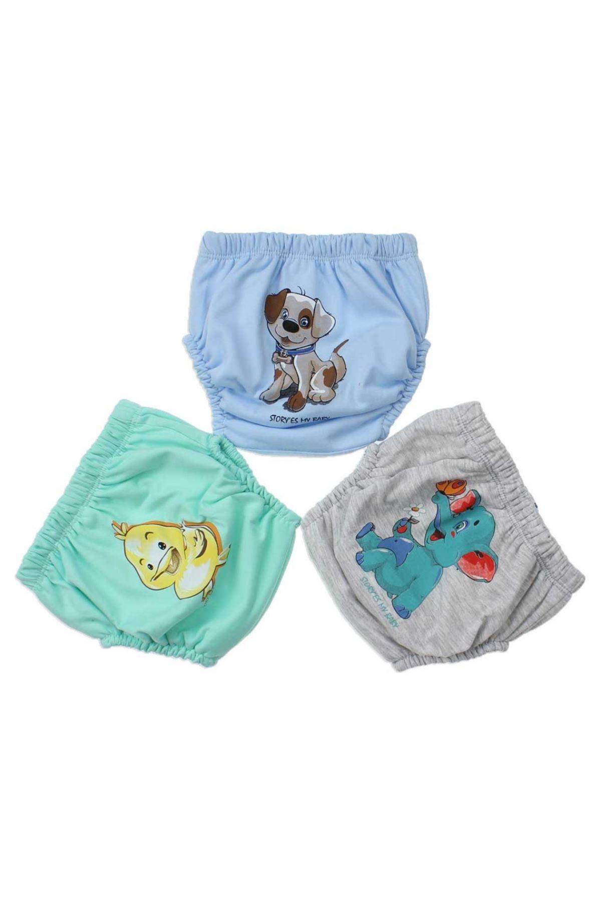 Baby Boy Girls Training Panty Underwear 3 Piece Set Initial Potty Training Men Boys Babies Cotton Training Panty Boxer Models