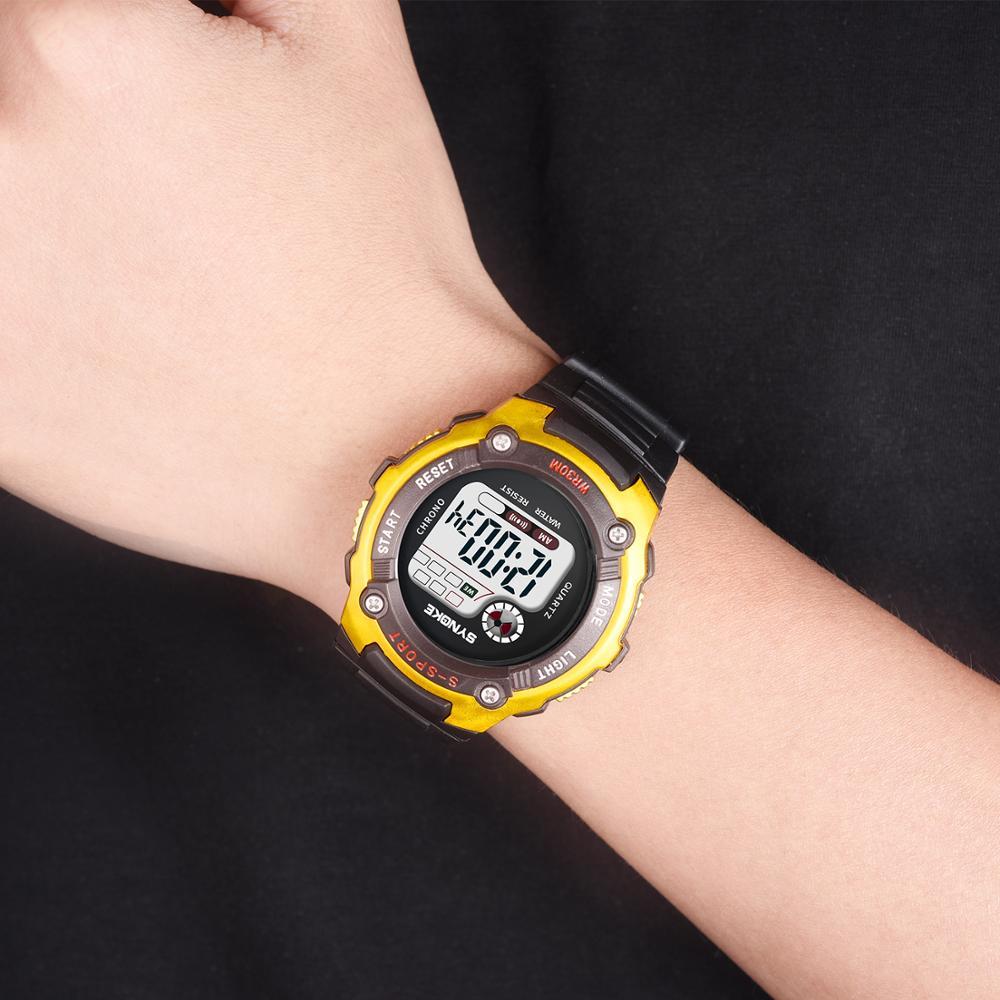 Мальчики Дети Часы LED Цифровые SYNOKE Официальные Флагманские Магазин Электронные Часы Для Мальчиков Девочек Спорт Студент Montre pour enfants