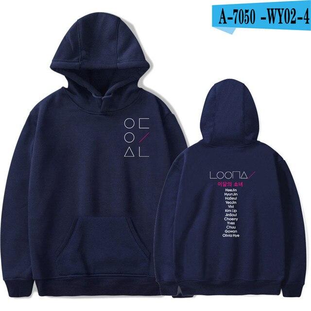 LOONA The Same Style sweatshirt hoodies women men cotton long sleeve sweatshirts hoodie plus size S-4XL Jacket coat kpop clothes 10