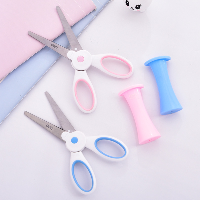 Deli Students Stationery 6065 Magic Bunny Scissors CHILDREN'S Cartoon Scissors Sheath Manual Scissor